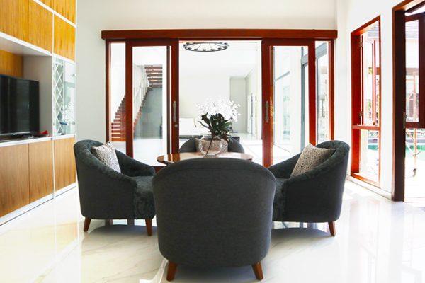 living area dalung villa Arttrea project